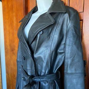 JNY Leather Coat, Sz6